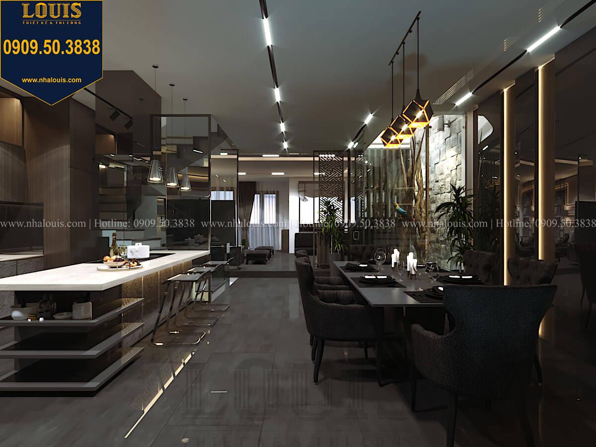 Bếp và phòng ăn Mẫu nhà phố 4 tầng 7x16m có tầng hầm tiện lợi tại Bình Chánh - 17