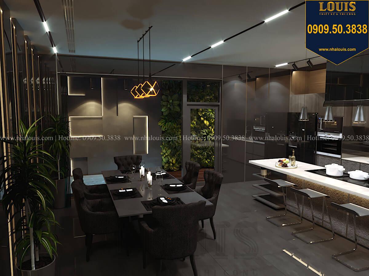 Bếp và phòng ăn Mẫu nhà phố 4 tầng 7x16m có tầng hầm tiện lợi tại Bình Chánh - 18