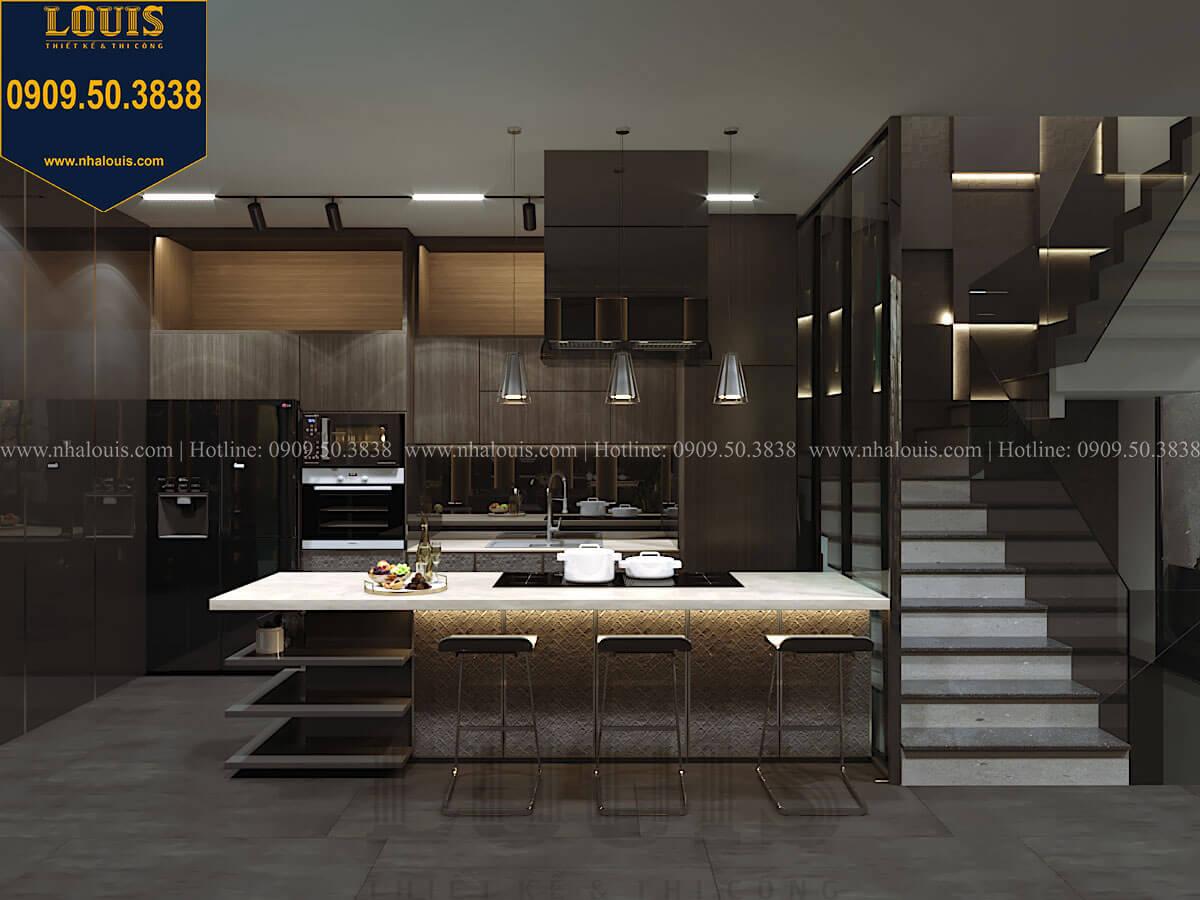 Bếp và phòng ăn Mẫu nhà phố 4 tầng 7x16m có tầng hầm tiện lợi tại Bình Chánh - 19
