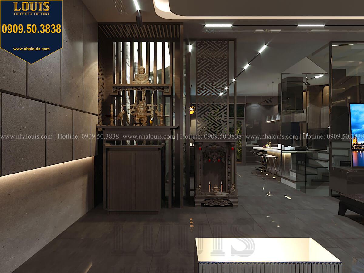 Bếp và phòng ăn Mẫu nhà phố 4 tầng 7x16m có tầng hầm tiện lợi tại Bình Chánh - 21