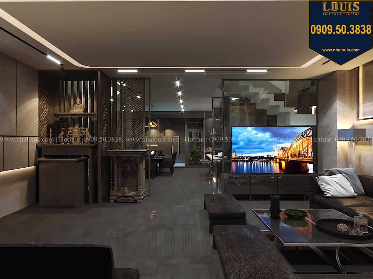 Bếp và phòng ăn Mẫu nhà phố 4 tầng 7x16m có tầng hầm tiện lợi tại Bình Chánh - 22
