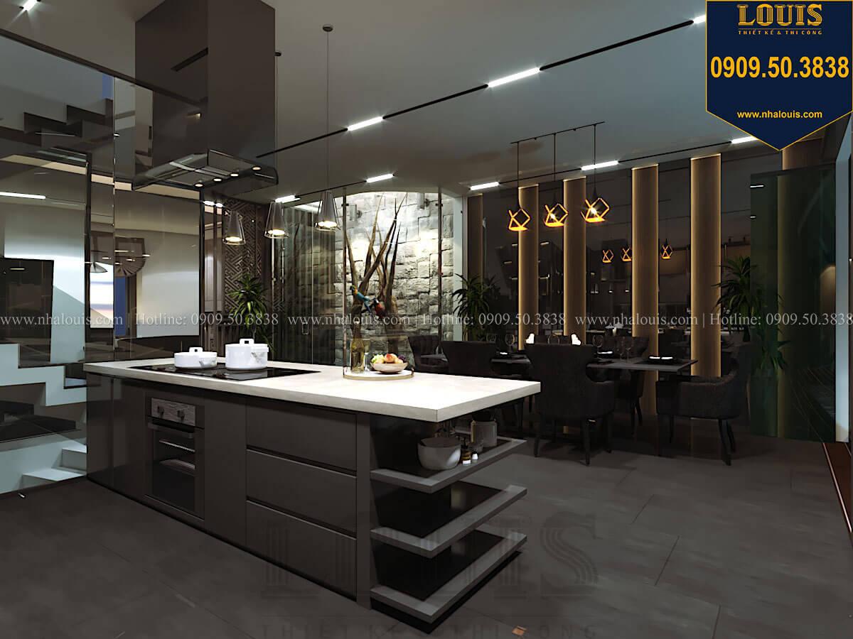 Bếp và phòng ăn Mẫu nhà phố 4 tầng 7x16m có tầng hầm tiện lợi tại Bình Chánh - 23