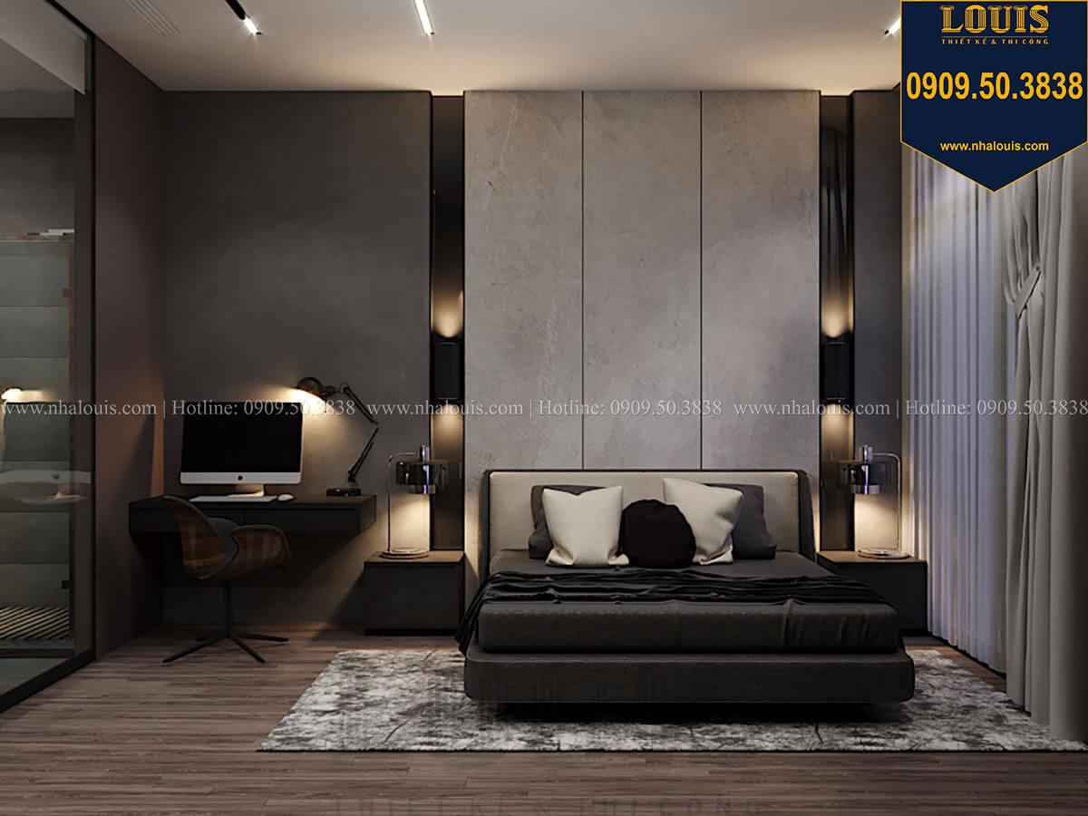 Phòng ngủ master Mẫu nhà phố 4 tầng 7x16m có tầng hầm tiện lợi tại Bình Chánh - 26
