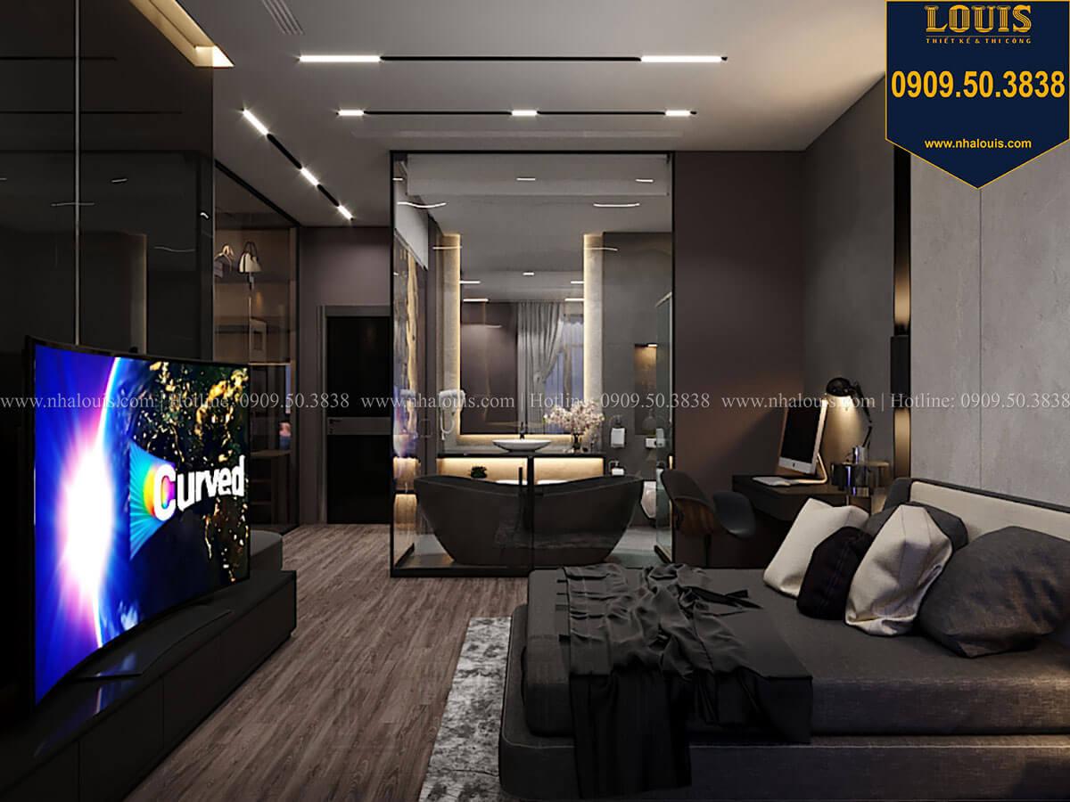 Phòng ngủ master Mẫu nhà phố 4 tầng 7x16m có tầng hầm tiện lợi tại Bình Chánh - 27