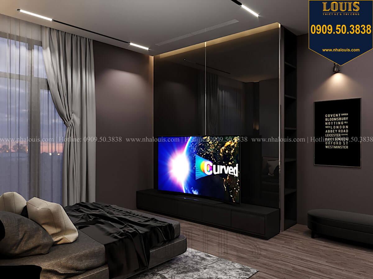 Phòng ngủ master Mẫu nhà phố 4 tầng 7x16m có tầng hầm tiện lợi tại Bình Chánh - 28