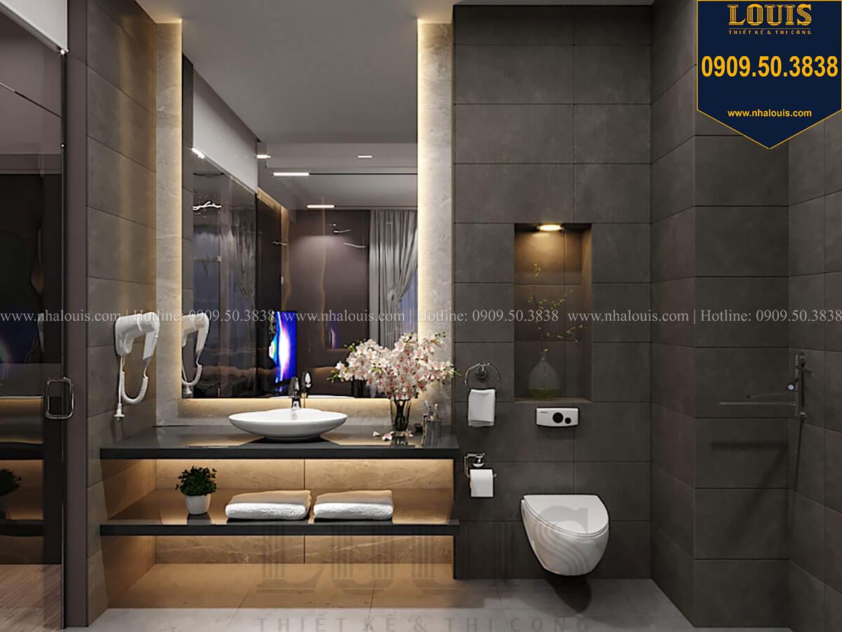 WC và phòng tắm Mẫu nhà phố 4 tầng 7x16m có tầng hầm tiện lợi tại Bình Chánh - 30