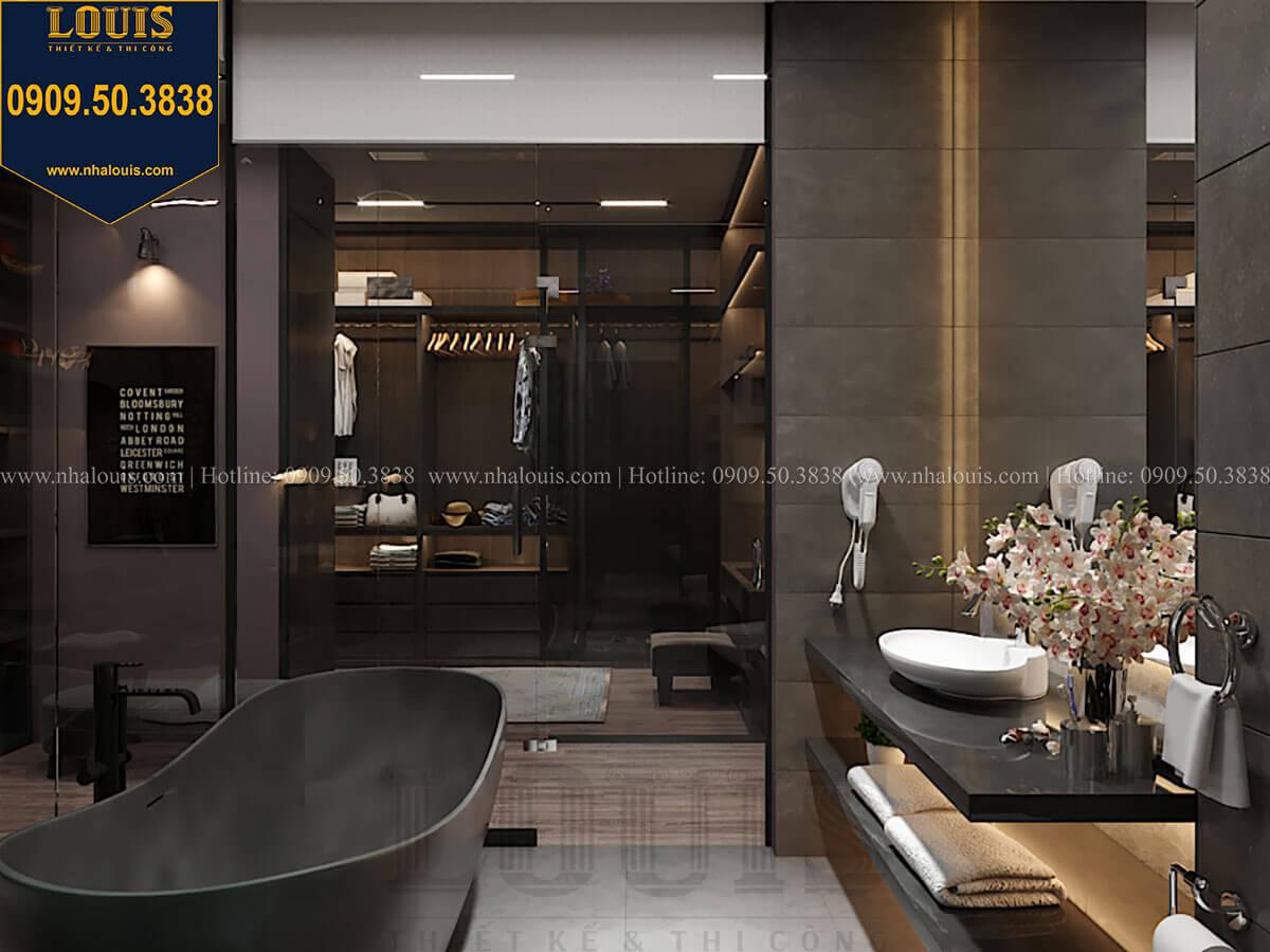 WC và phòng tắm Mẫu nhà phố 4 tầng 7x16m có tầng hầm tiện lợi tại Bình Chánh - 31