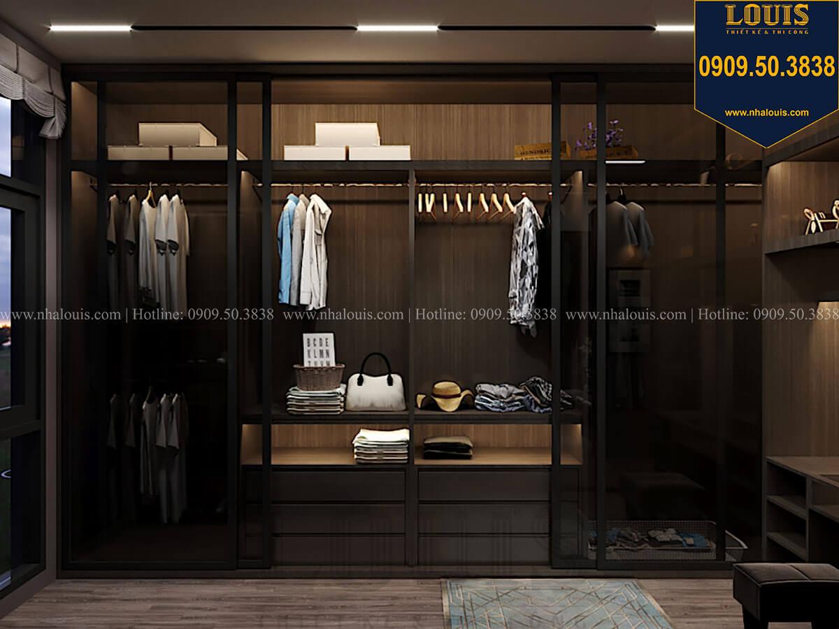 Phòng thay đồ Phòng ngủ master Mẫu nhà phố 4 tầng 7x16m có tầng hầm tiện lợi tại Bình Chánh - 32