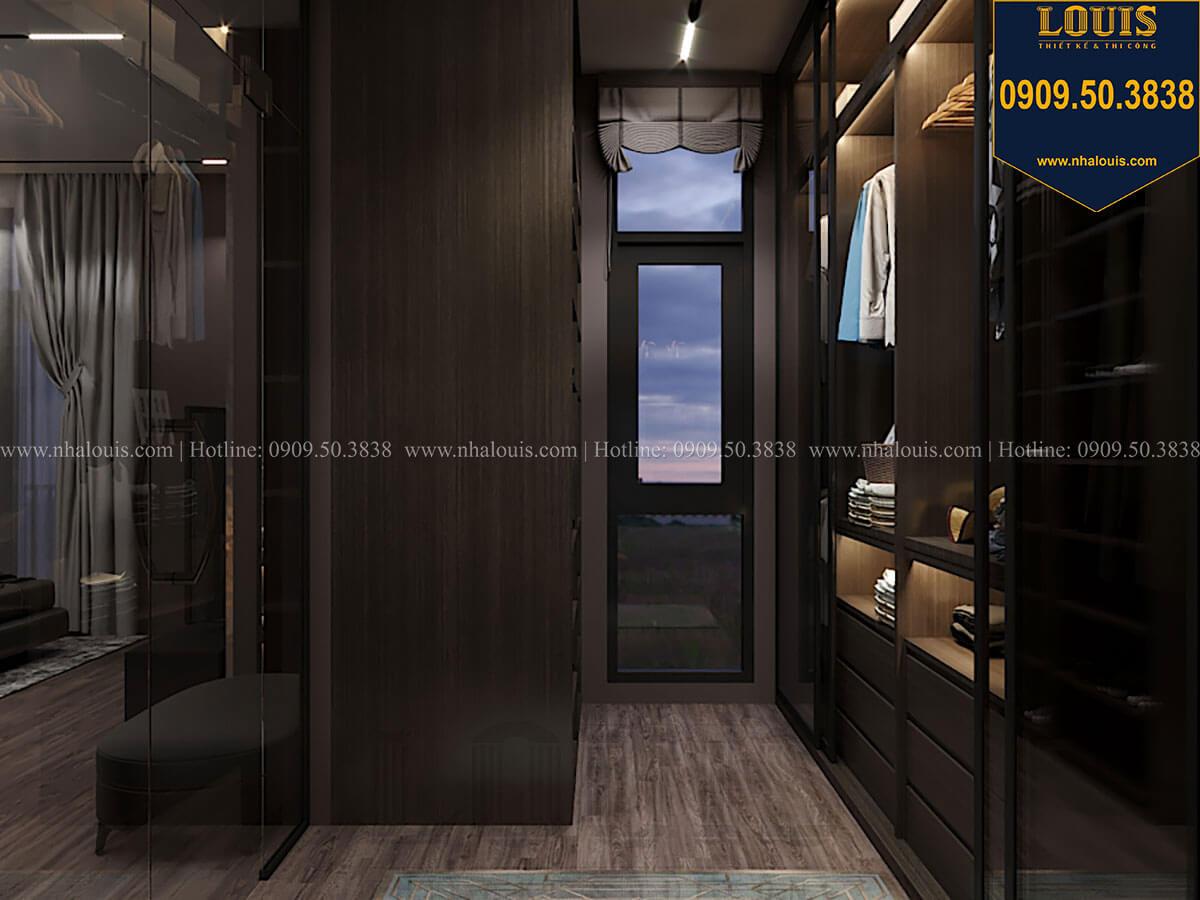 Phòng thay đồ Phòng ngủ master Mẫu nhà phố 4 tầng 7x16m có tầng hầm tiện lợi tại Bình Chánh - 33