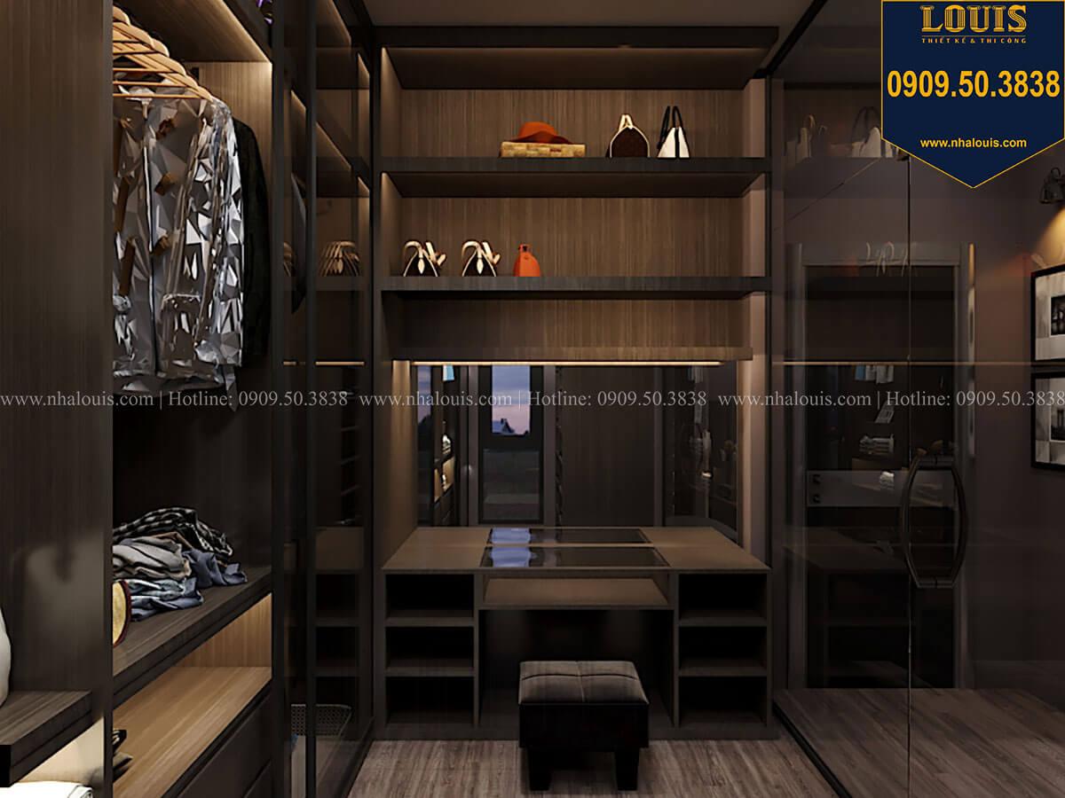 Phòng thay đồ Phòng ngủ master Phòng ngủ master Mẫu nhà phố 4 tầng 7x16m có tầng hầm tiện lợi tại Bình Chánh - 34