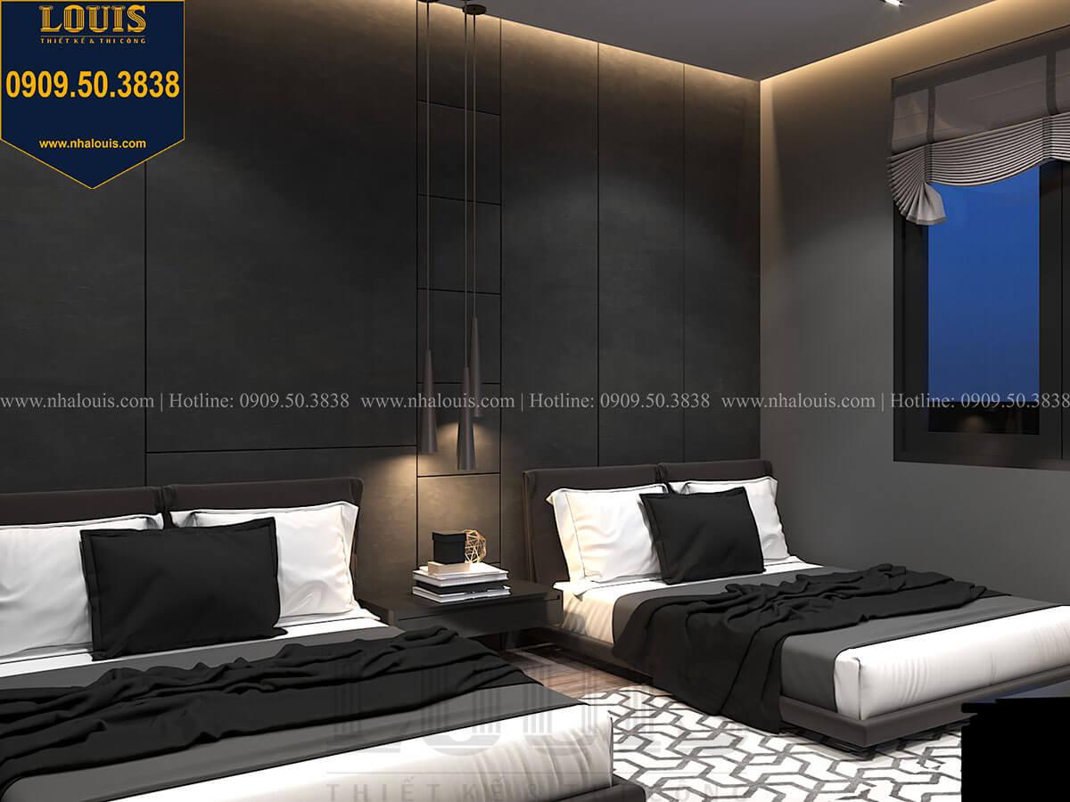 Phòng ngủ Mẫu nhà phố 4 tầng 7x16m có tầng hầm tiện lợi tại Bình Chánh - 37