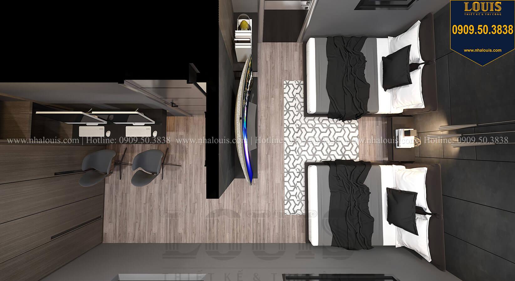 Phòng ngủ Mẫu nhà phố 4 tầng 7x16m có tầng hầm tiện lợi tại Bình Chánh - 38