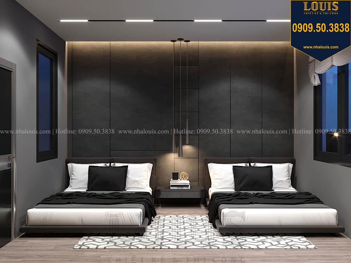 Phòng ngủ Mẫu nhà phố 4 tầng 7x16m có tầng hầm tiện lợi tại Bình Chánh - 40