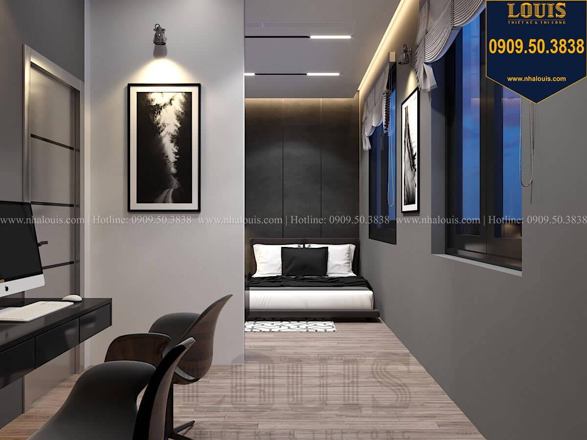 Phòng ngủ Mẫu nhà phố 4 tầng 7x16m có tầng hầm tiện lợi tại Bình Chánh - 42