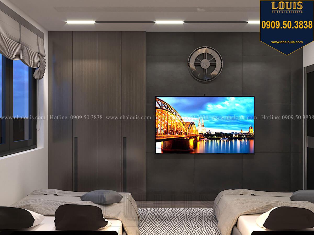Phòng ngủ Mẫu nhà phố 4 tầng 7x16m có tầng hầm tiện lợi tại Bình Chánh - 45