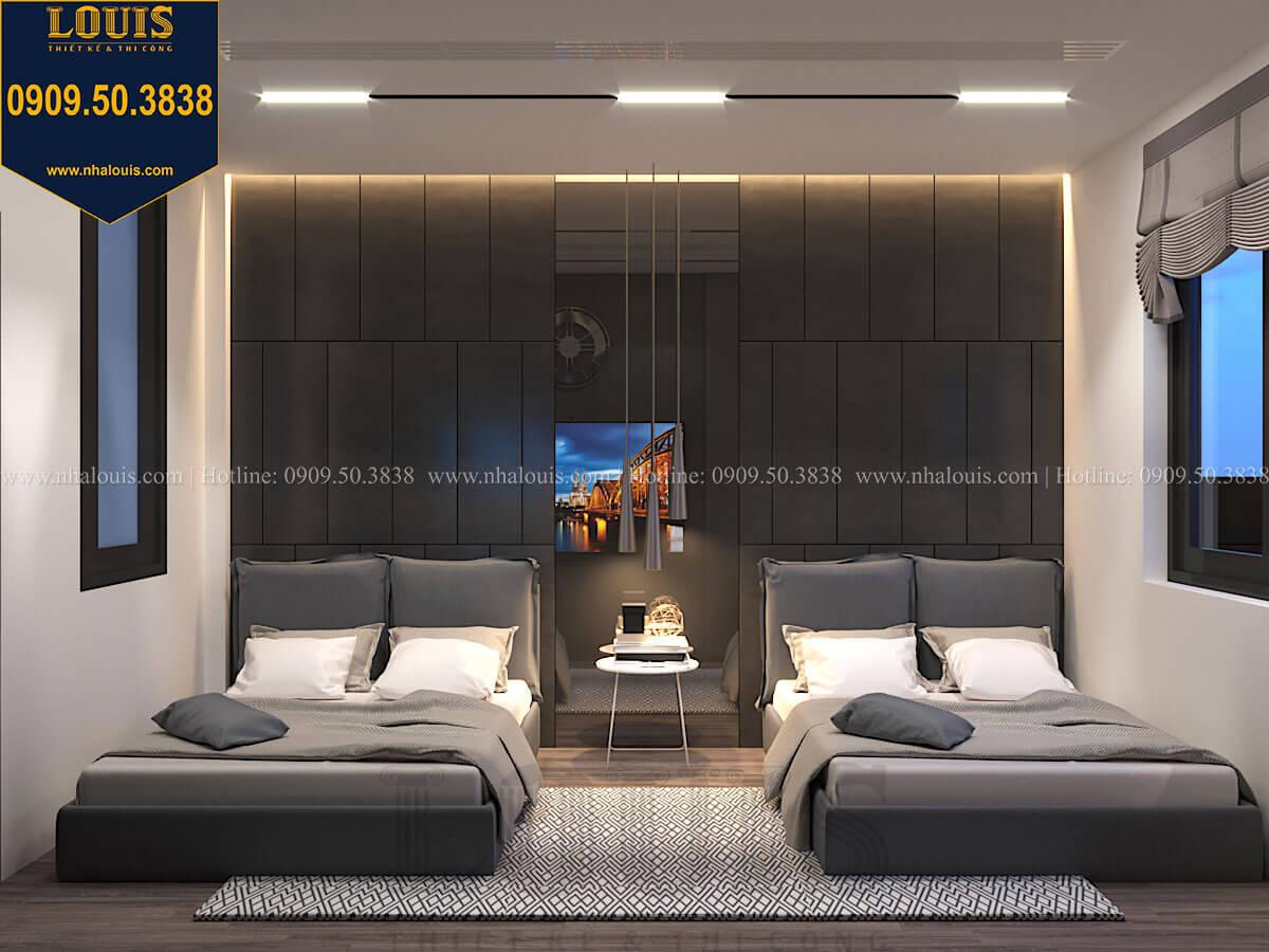 Phòng ngủ Mẫu nhà phố 4 tầng 7x16m có tầng hầm tiện lợi tại Bình Chánh - 46