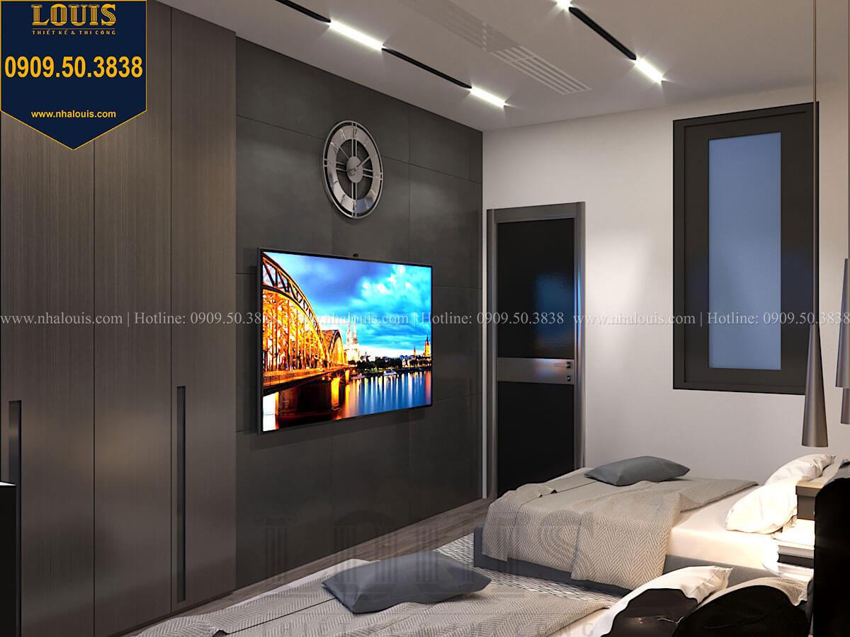 Phòng ngủ Mẫu nhà phố 4 tầng 7x16m có tầng hầm tiện lợi tại Bình Chánh - 47