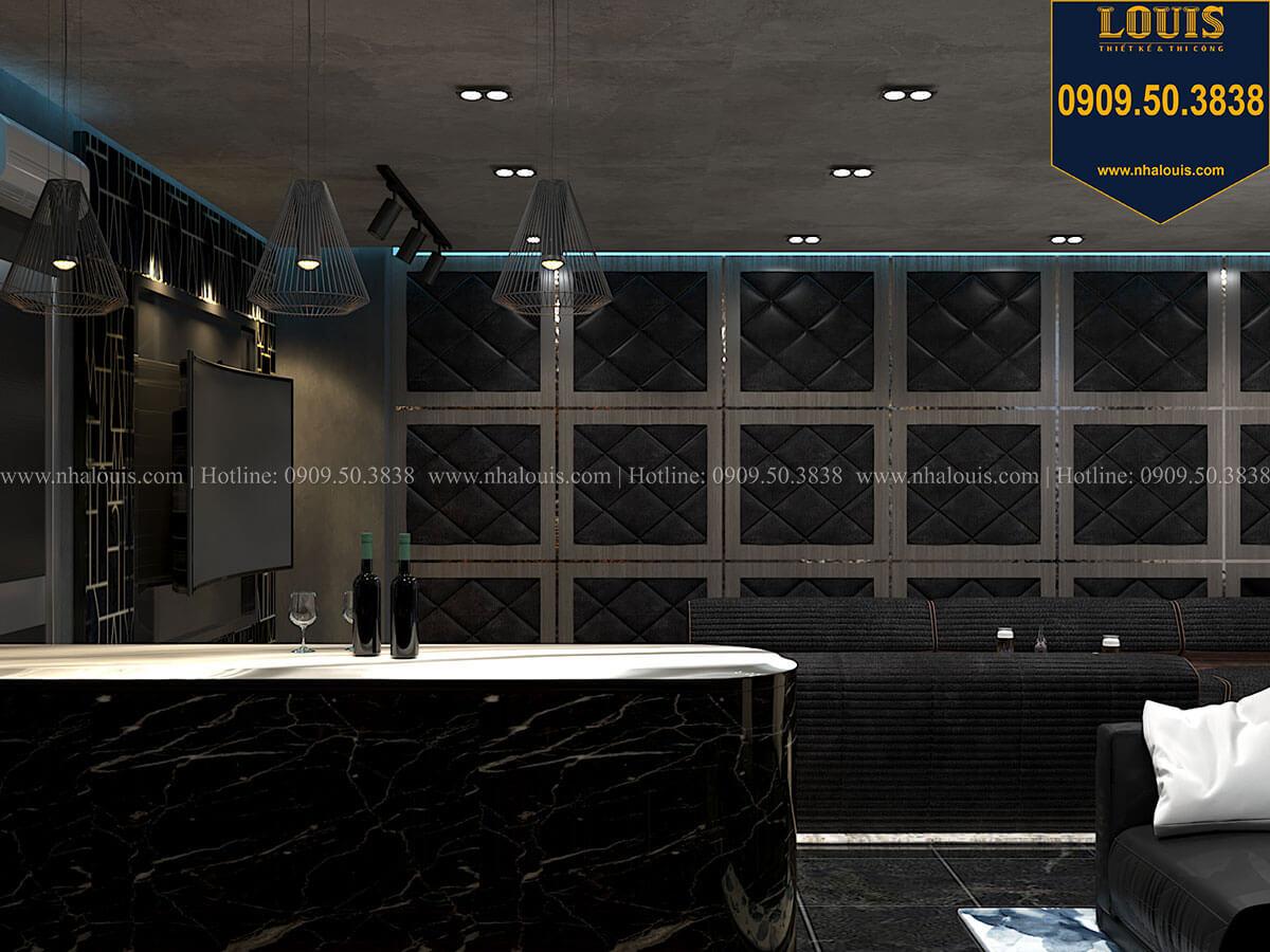 Phòng giải trí Mẫu nhà phố 4 tầng 7x16m có tầng hầm tiện lợi tại Bình Chánh - 48