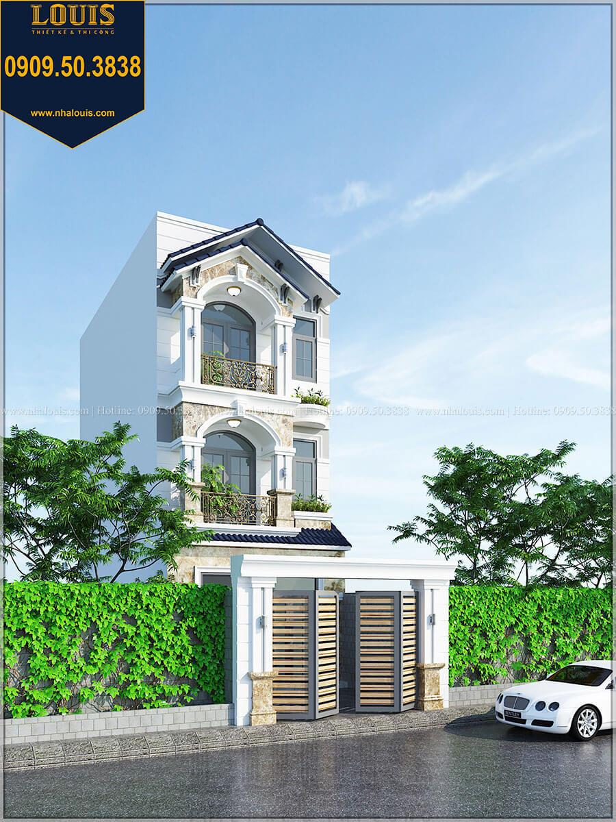 Mặt tiền Nhà phố 1 trệt 2 lầu phong cách tân cổ điển trang nhã tại Bình Tân