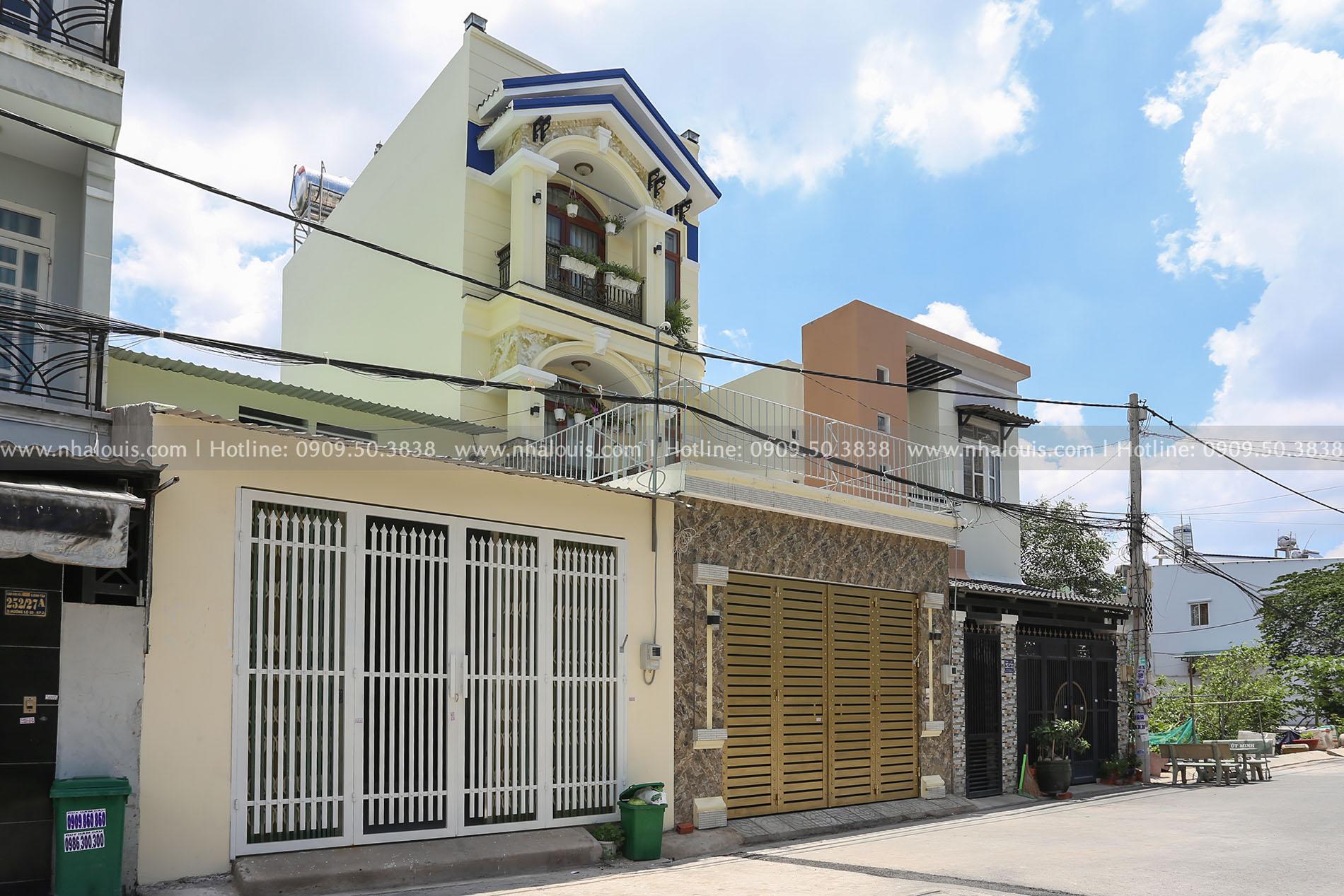 Nhà phố 1 trệt 2 lầu phong cách tân cổ điển trang nhã tại Bình Tân