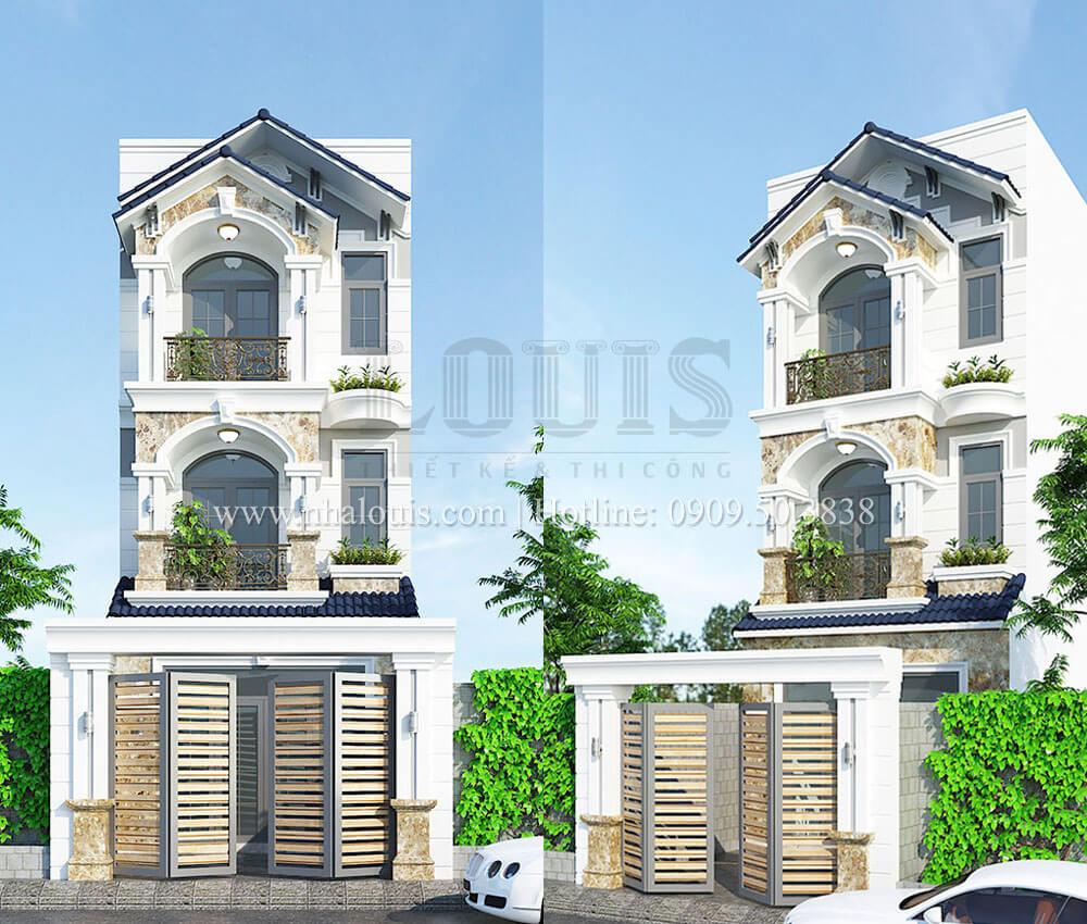 Nhà phố 1 trệt 2 lầu phong cách hiện đại và trang nhã tại Bình Tân