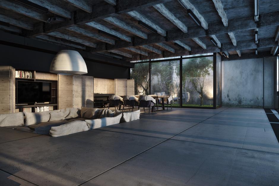 Những lý do bạn nên sử dụng sàn bê tông cho mẫu biệt thự 3 tầng hiện đại