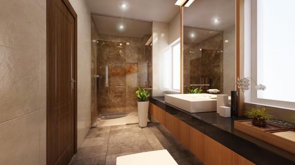 4 màu sơn khuyên dùng cho nội thất phòng tắm biệt thự 4 mặt tiền cực chất