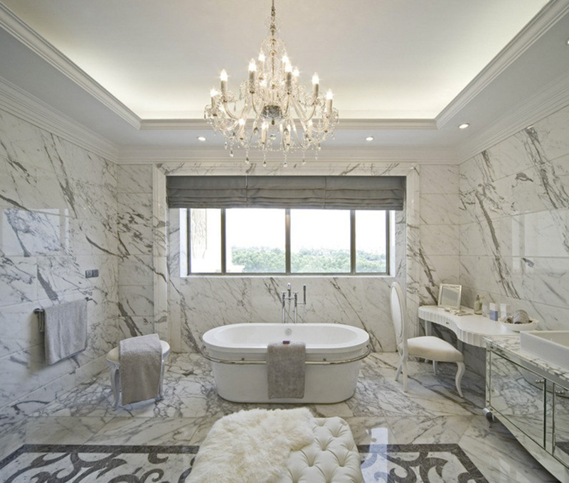 Tuyệt chiêu chống ẩm phòng tắm biệt thự cổ điển 2 tầng cực hiệu quả