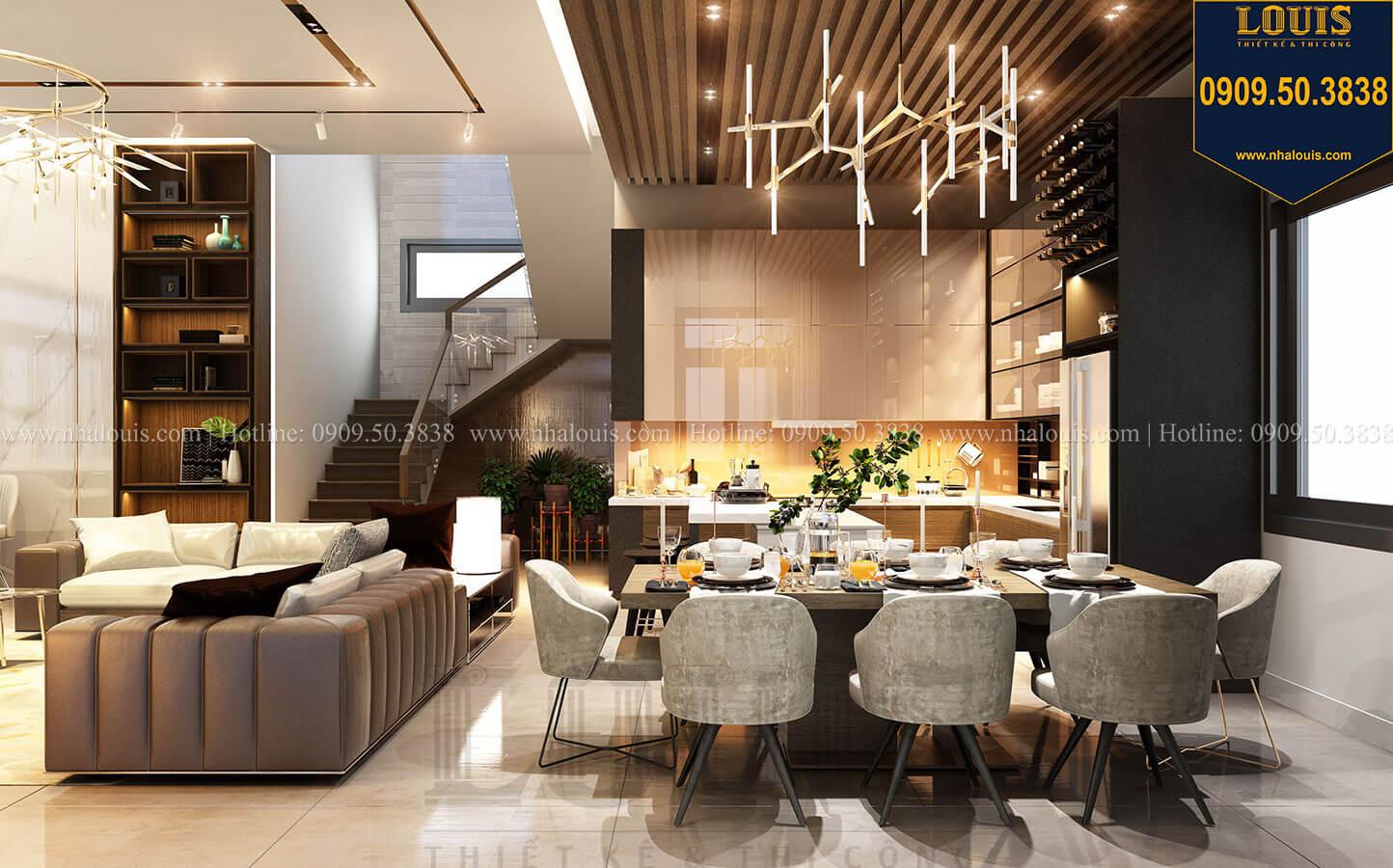 Nắm trọn 6 bí quyết thiết kế phòng khách biệt thự hiện đại 3 tầng đẹp