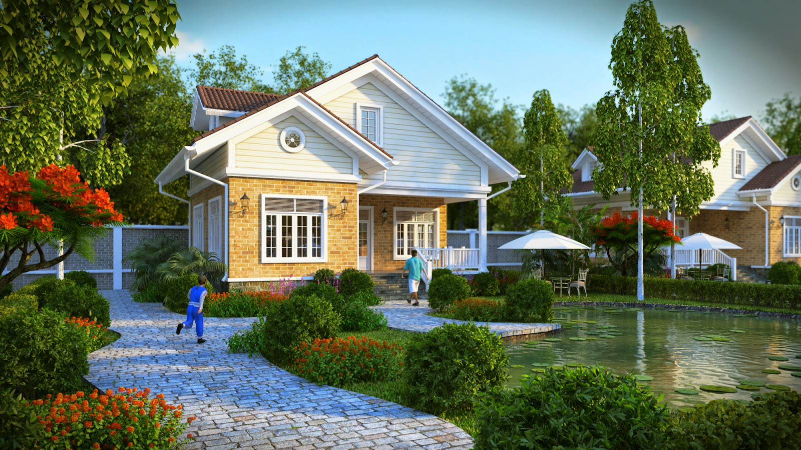 Những ý tưởng thiết kế biệt thự vườn đẹp từ nước