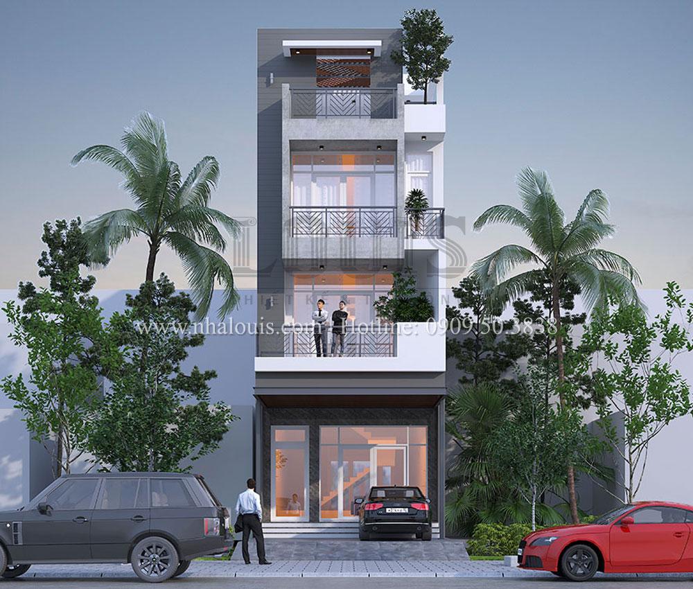 Mẫu thiết kế nhà phố 4 tầng hiện đại và ấn tượng tại Quận 9