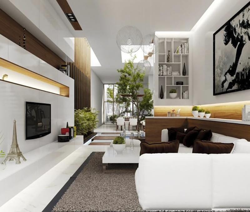 5 gợi ý trang trí phòng khách biệt thự 2 mặt tiền dịp cuối năm cực chất