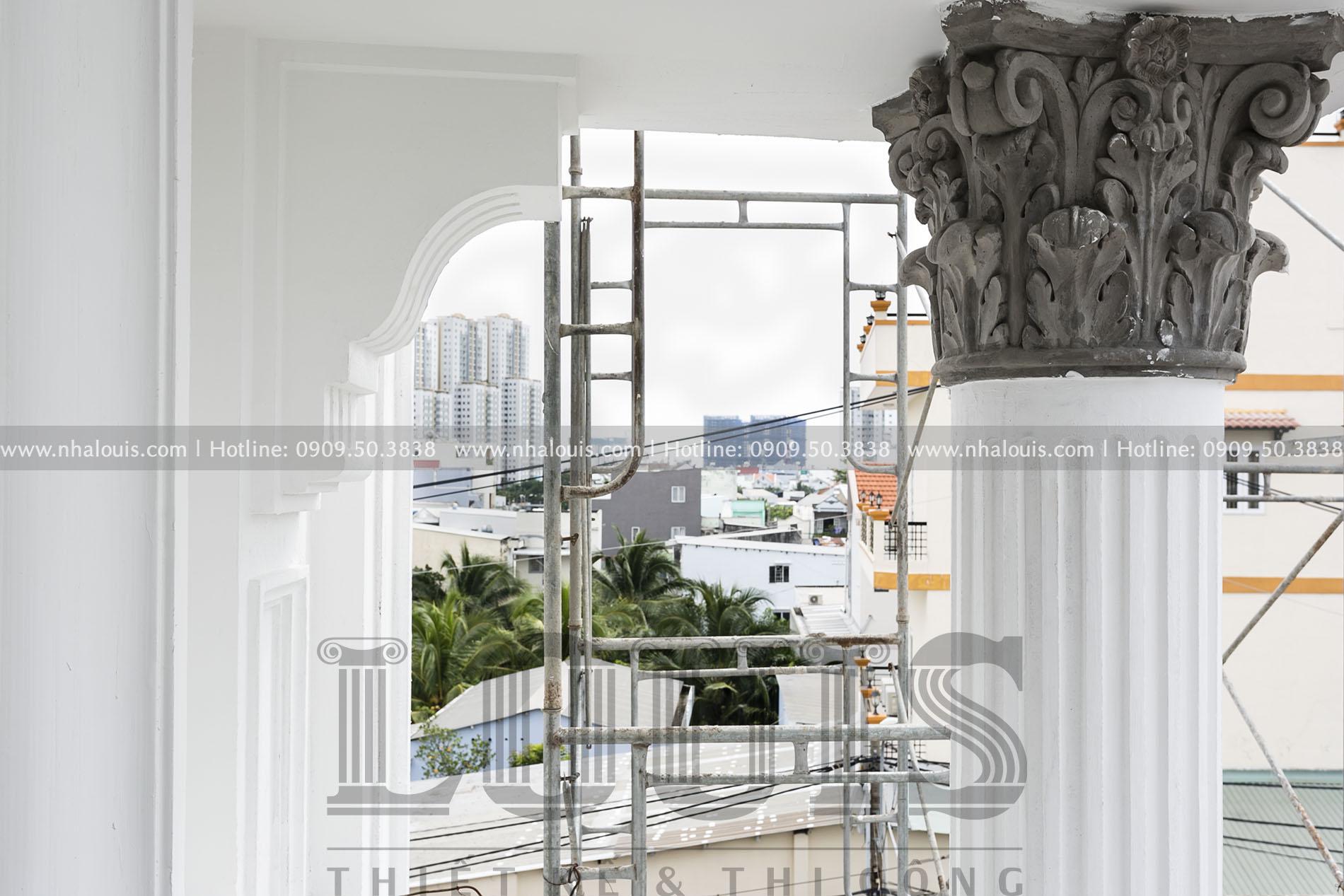 Sơn nước hoàn thiện biệt thự châu Âu cổ điển tại Nhà Bè