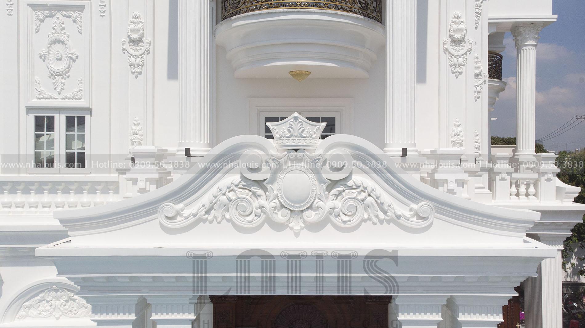 Mặt tiền biệt thự cổ điển Nhà Bè khi hoàn thiện