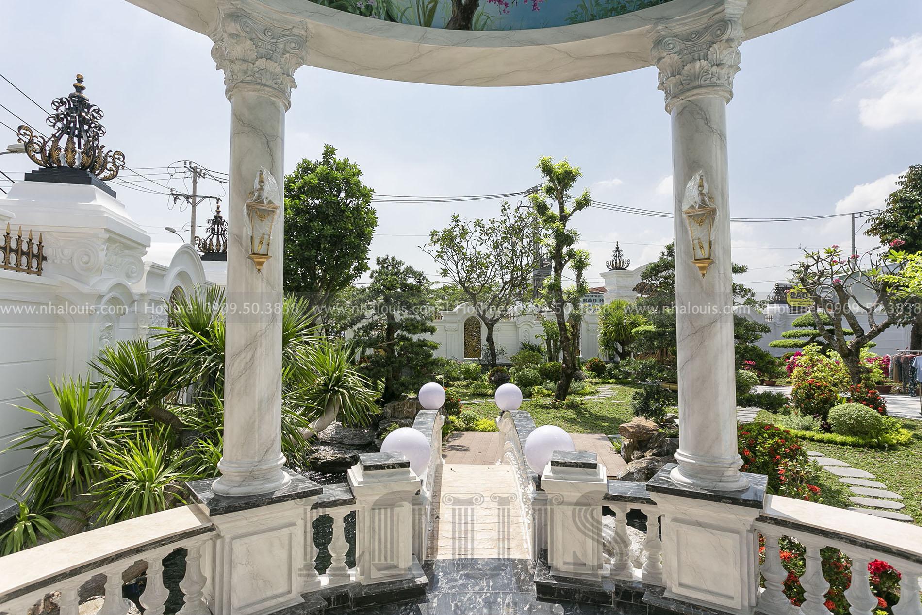thi công hoàn thiện sân vườn biệt thự cổ điển Nhà Bè
