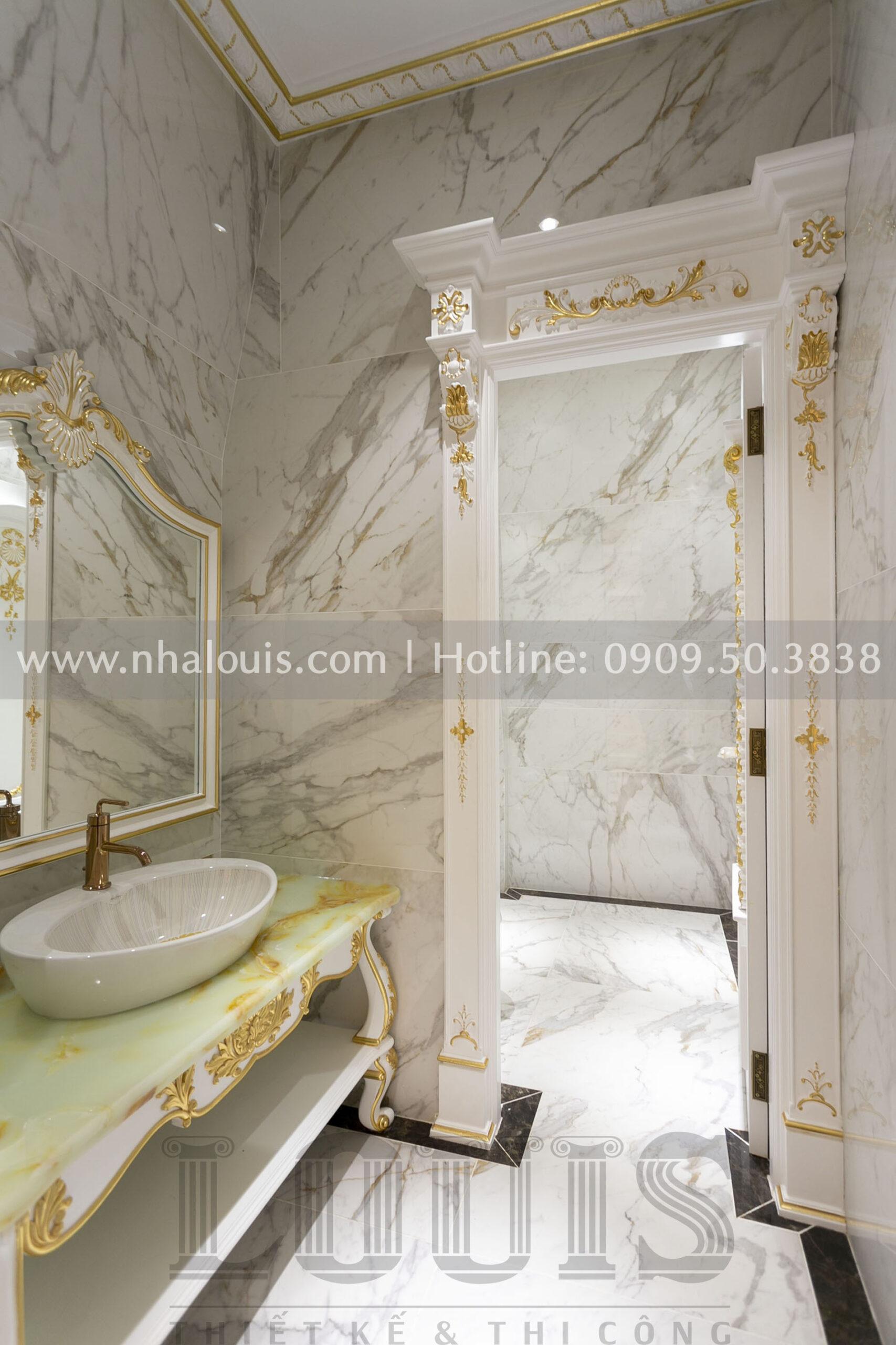 Phòng vệ sinh biệt thự cổ điển