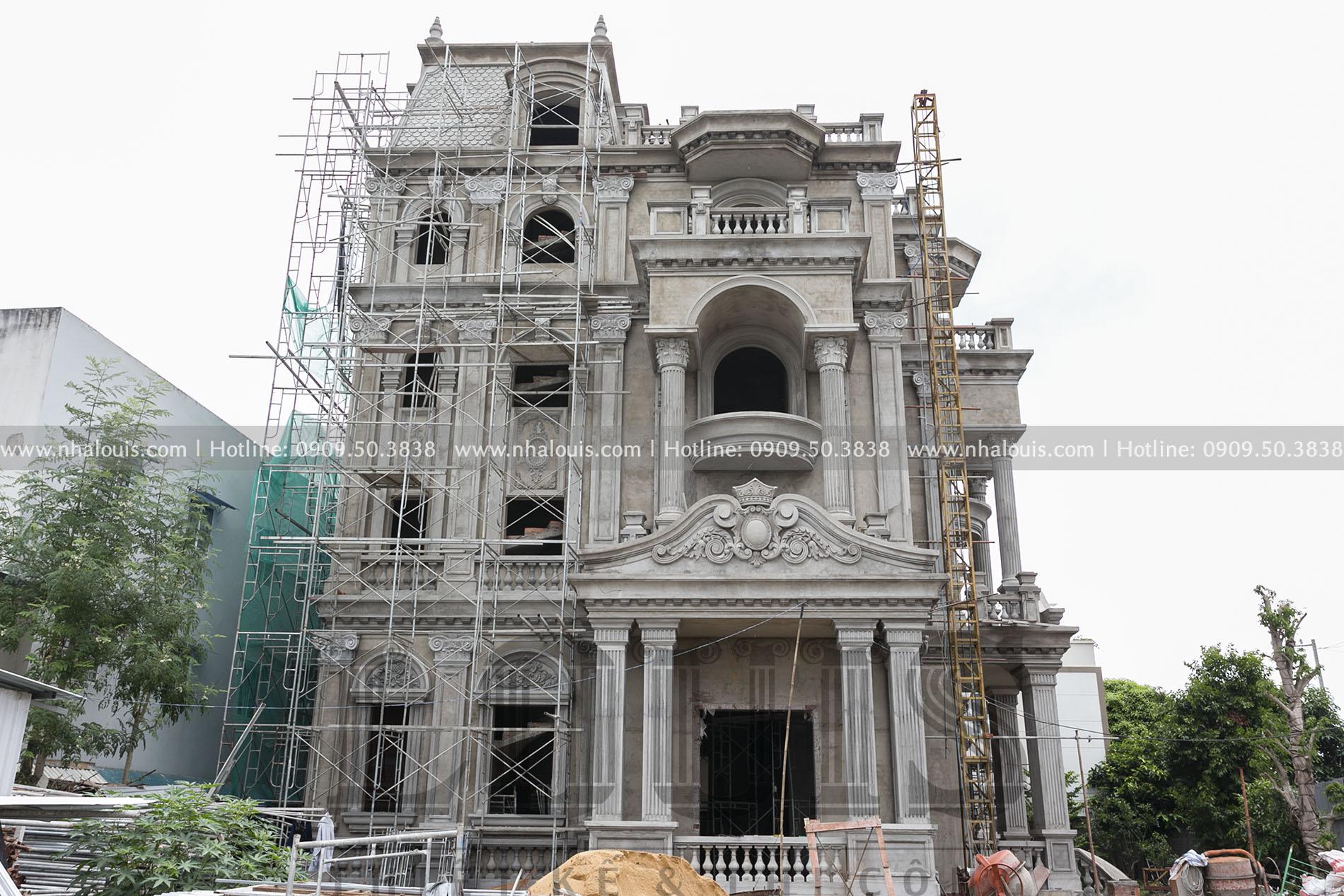Thi công biệt thự châu Âu cổ điển đẳng cấp tại Nhà Bè