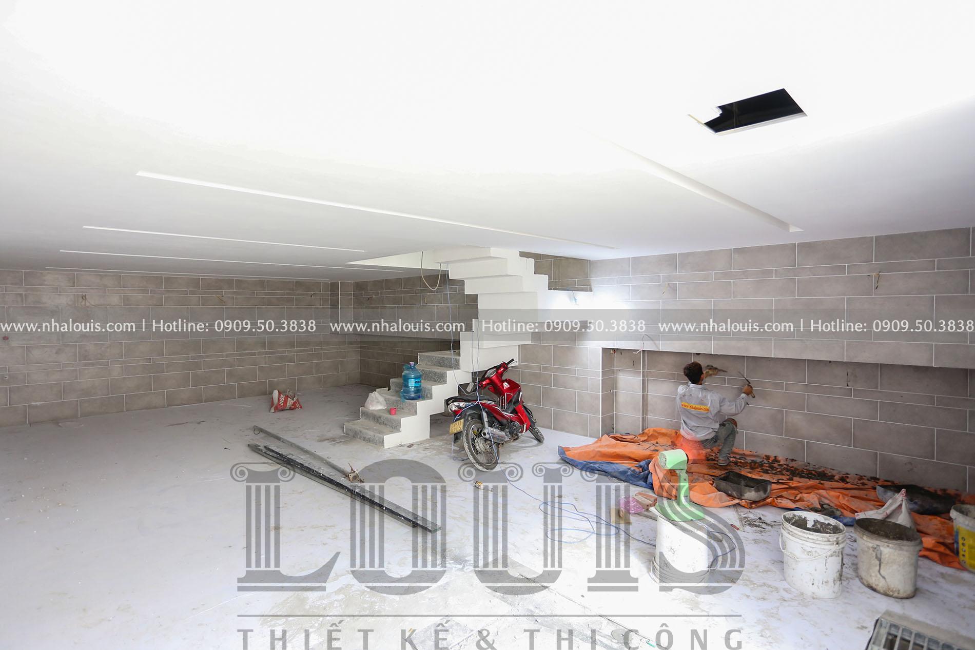 Thi công mẫu nhà phố 4 tầng 7x16m có tầng hầm tại Bình Chánh