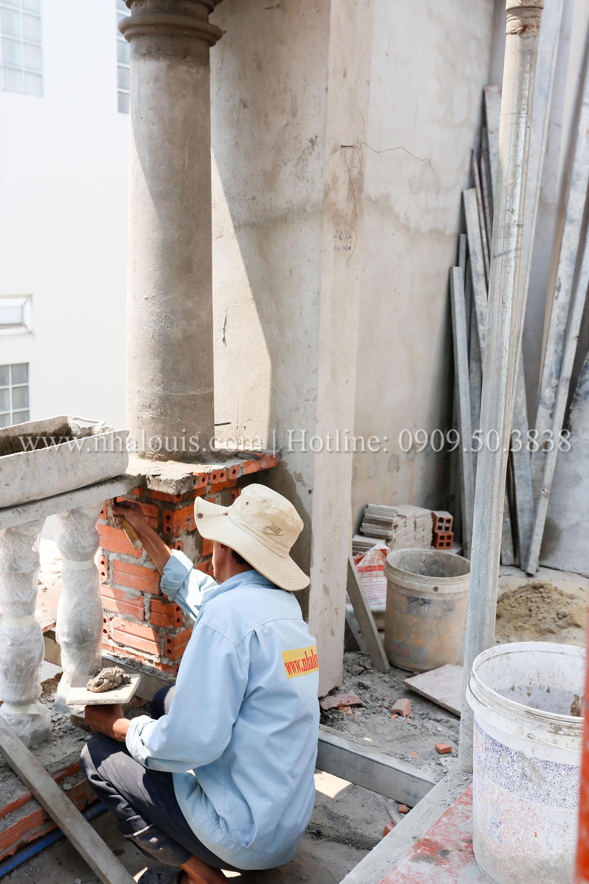 Sơn nước hoàn thiện nhà phố tân cổ điển 5 tầng mặt tiền 3.5m tại quận 6