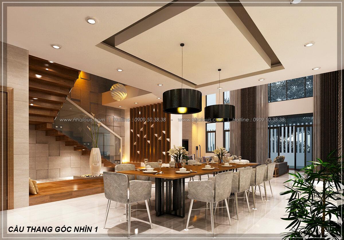 Gợi ý cách thiết kế phòng ăn biệt thự 1 trệt 1 lầu cực chuẩn