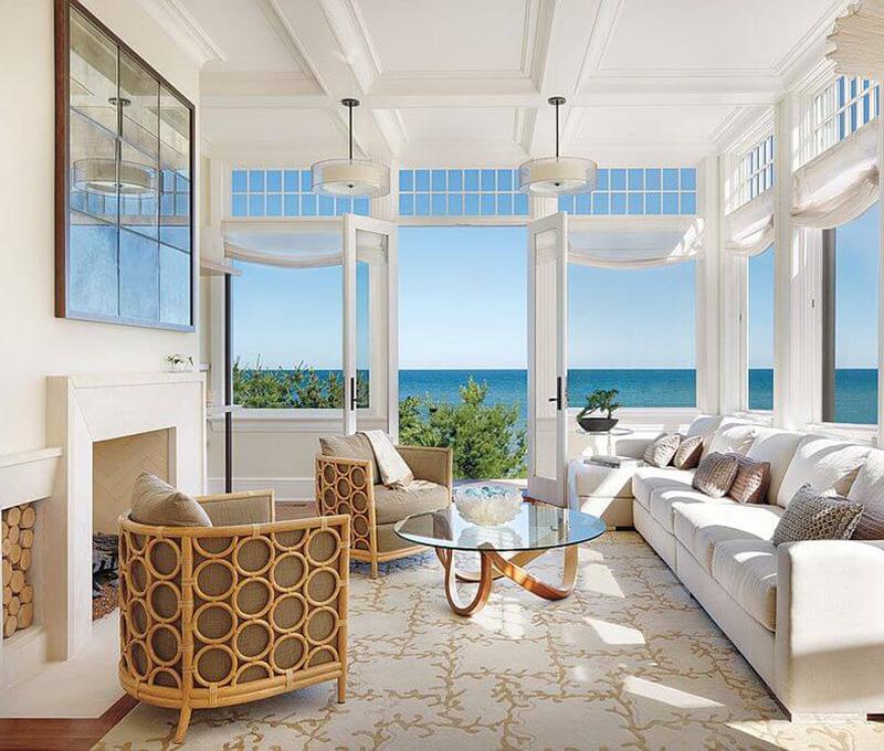 Mẫu biệt thự 4 tầng đẹp theo phong cách Coastal Style