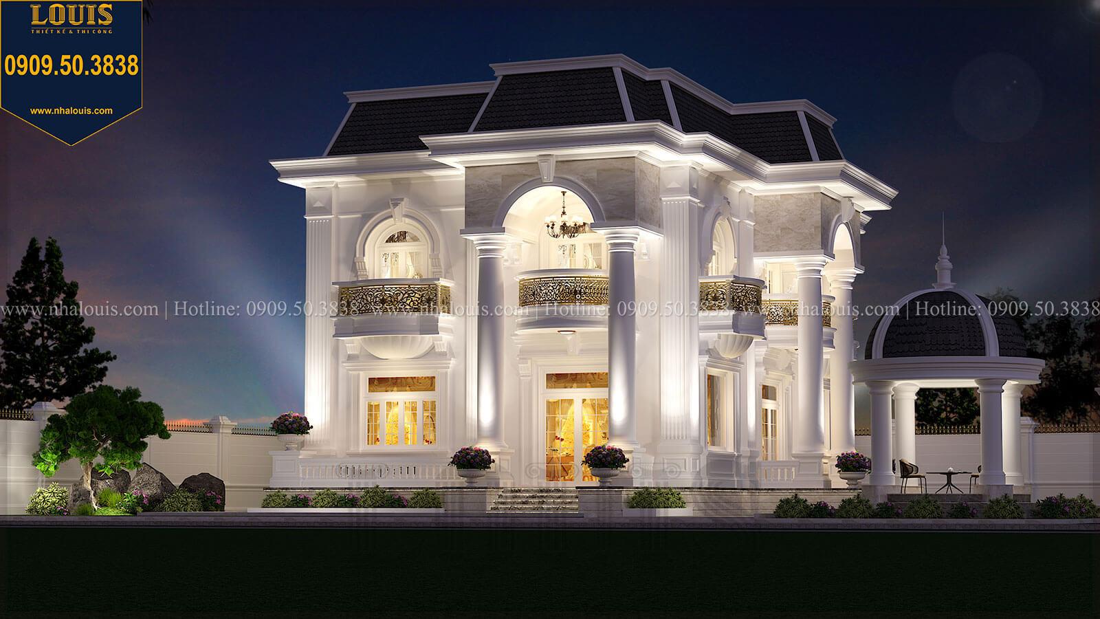 Biệt thự 1 trệt 1 lầu tân cổ điển đẹp trang nhã tại Tiền Giang