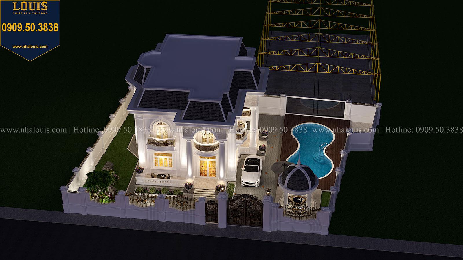 Mặt tiền Biệt thự 1 trệt 1 lầu tân cổ điển đẹp trang nhã tại Tiền Giang - 08