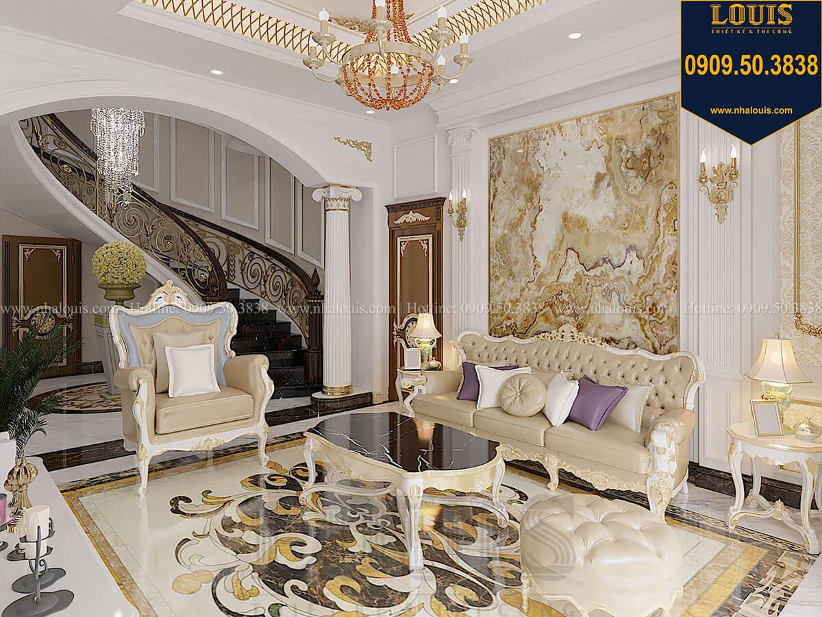 Phòng khách Biệt thự 1 trệt 1 lầu tân cổ điển đẹp trang nhã tại Tiền Giang - 15