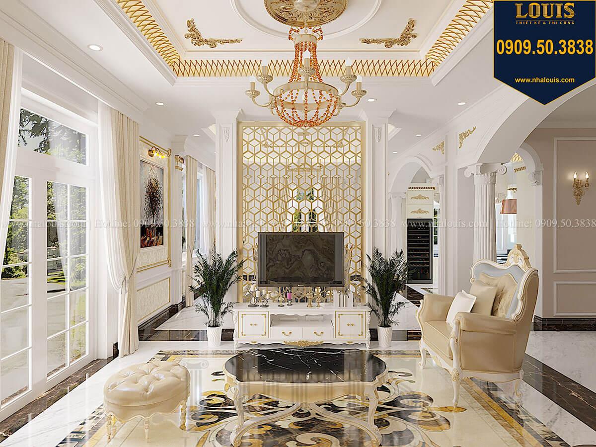 Phòng khách Biệt thự 1 trệt 1 lầu tân cổ điển đẹp trang nhã tại Tiền Giang - 16