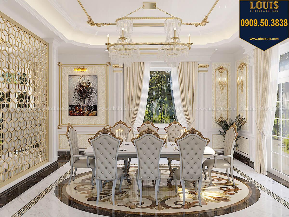 Phòng ăn Biệt thự 1 trệt 1 lầu tân cổ điển đẹp trang nhã tại Tiền Giang - 17