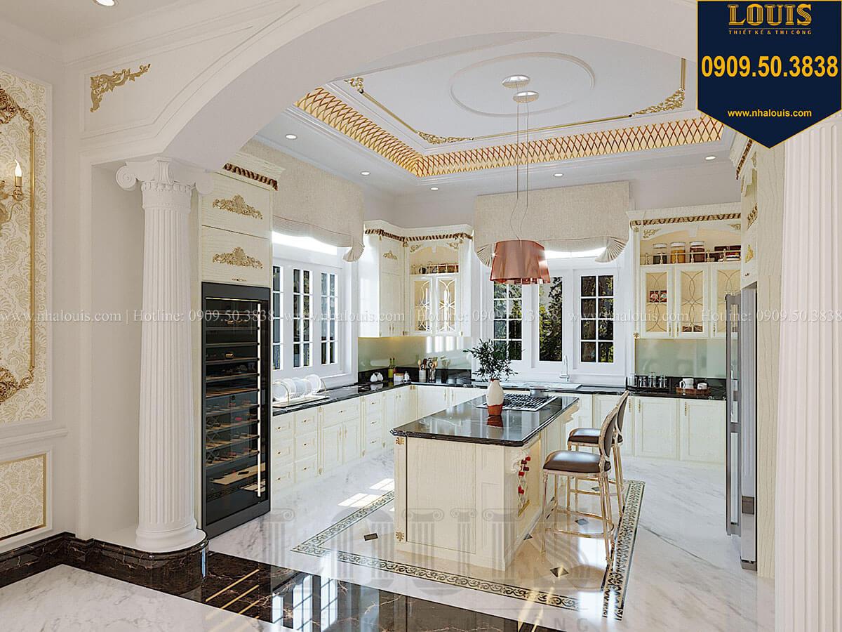Phòng bếp Biệt thự 1 trệt 1 lầu tân cổ điển đẹp trang nhã tại Tiền Giang - 19