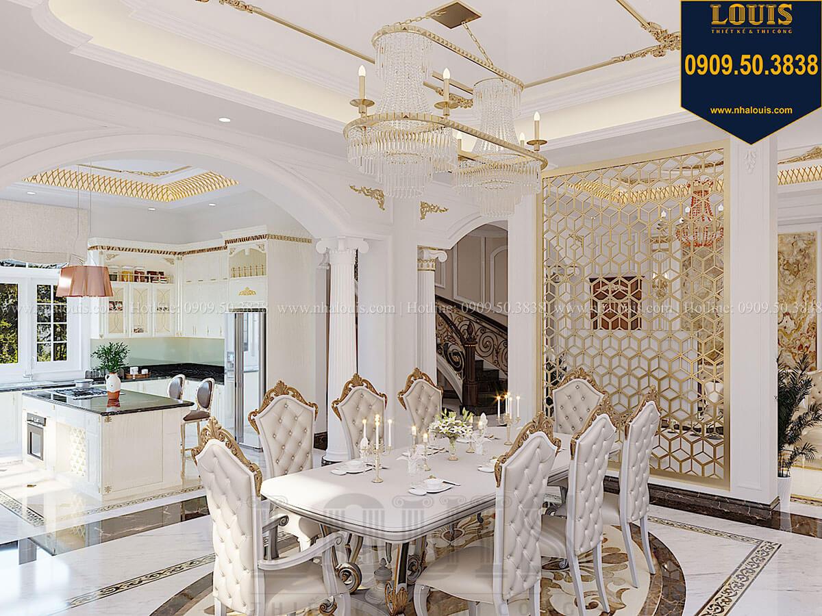 Phòng ăn Biệt thự 1 trệt 1 lầu tân cổ điển đẹp trang nhã tại Tiền Giang - 23