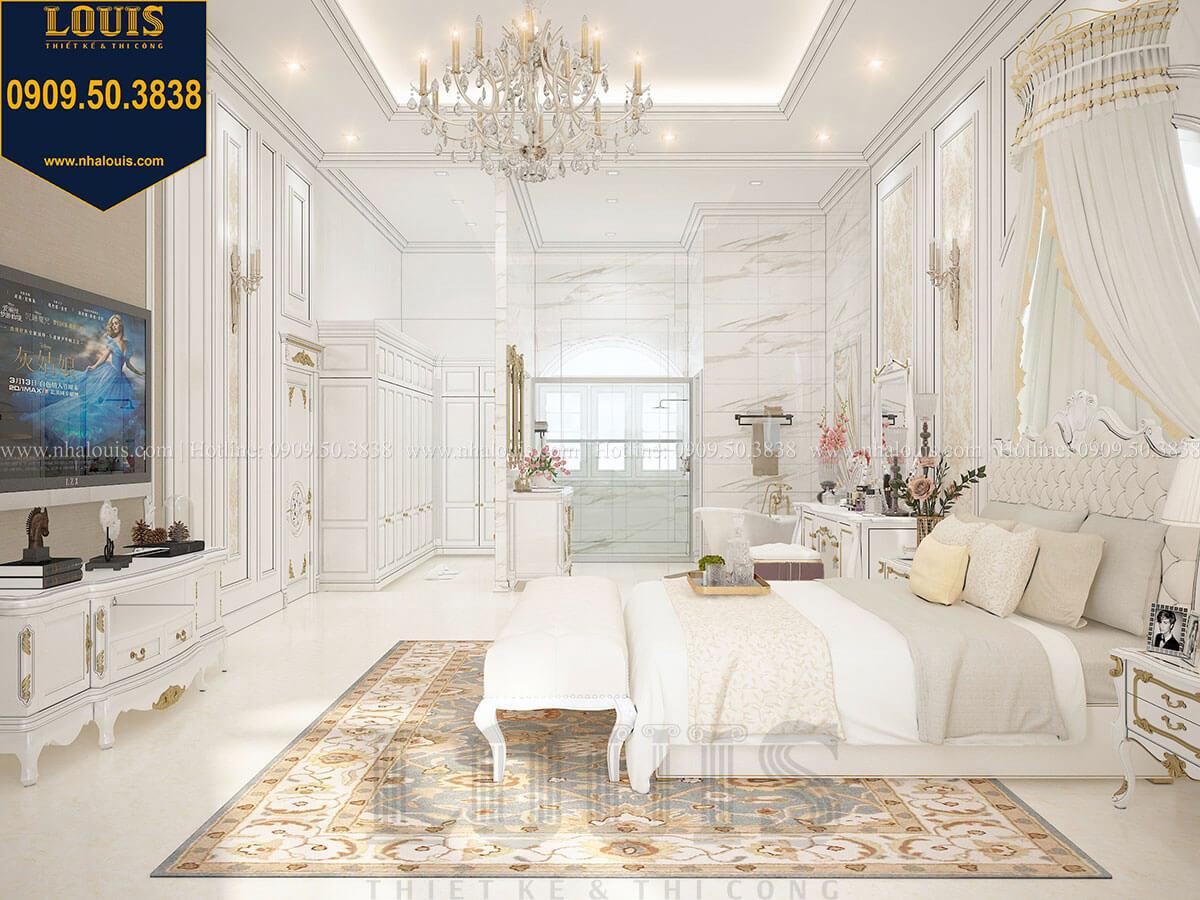 Phòng ngủ master Biệt thự 1 trệt 1 lầu tân cổ điển đẹp trang nhã tại Tiền Giang - 29