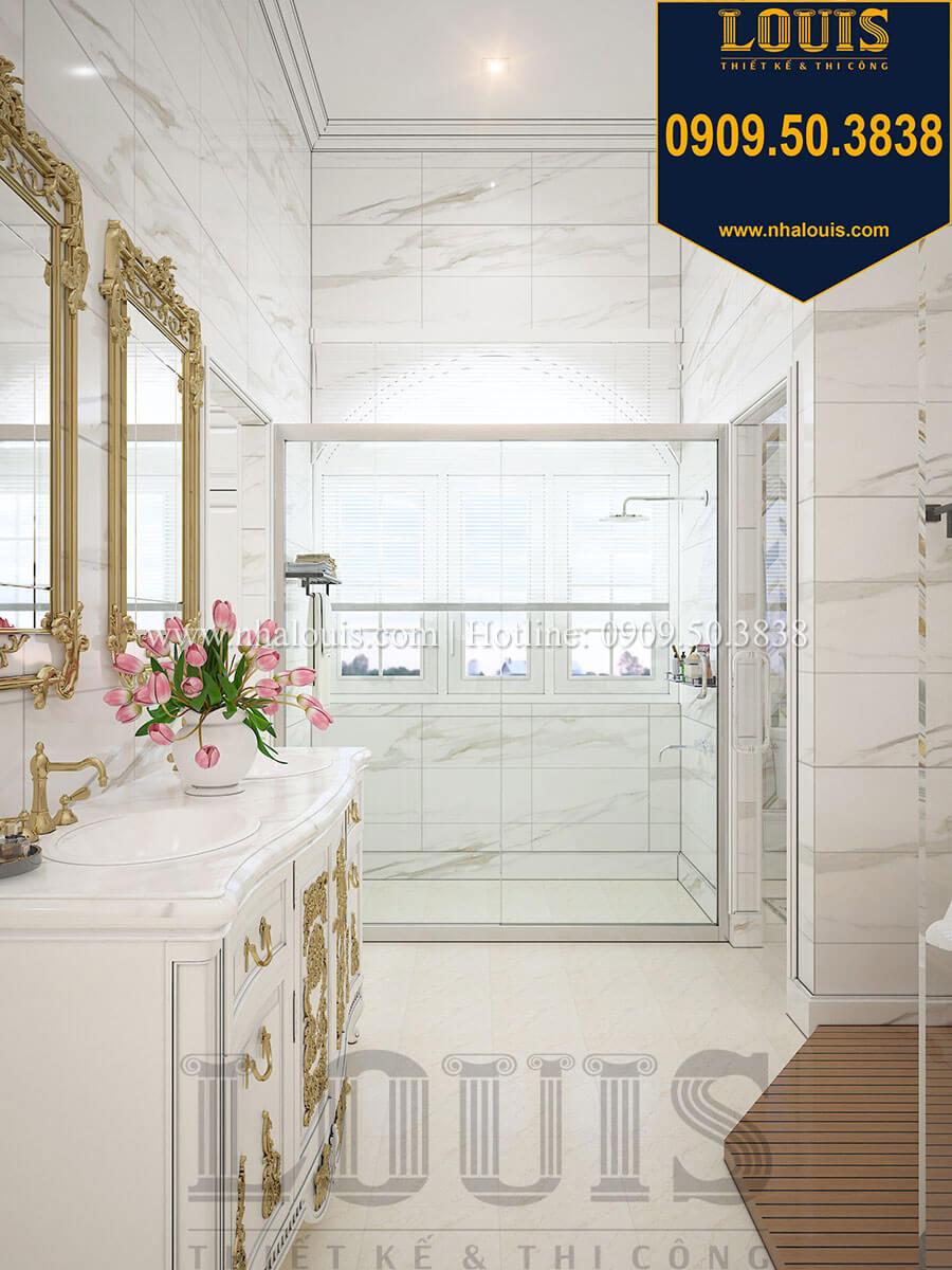 Phòng ngủ master Biệt thự 1 trệt 1 lầu tân cổ điển đẹp trang nhã tại Tiền Giang - 32